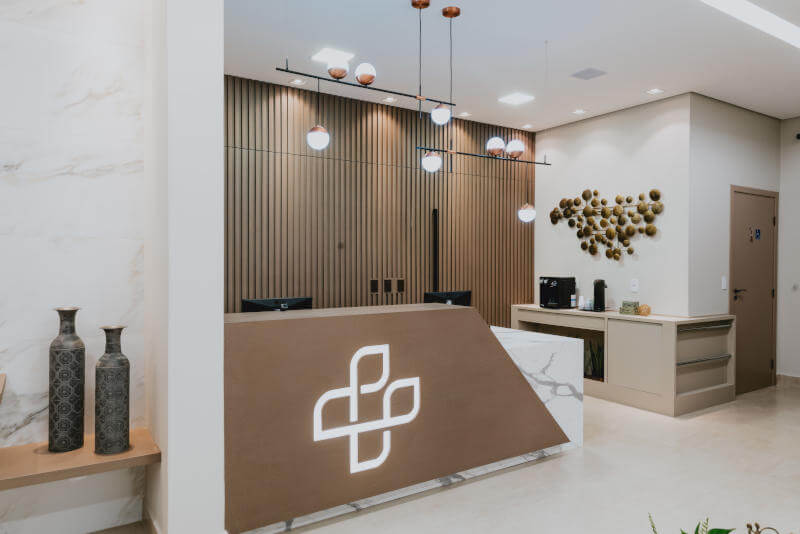 Sala de recepção na Clínicas Integradas SPAG