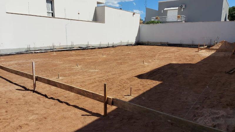 Preparação de terreno residencial